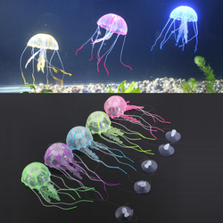 New Glowing Effect Artificial Aquotic Jellyfish for Aquarium Fish Tank Ornament Swim Pool Bath Decor Hot Sale
