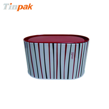wholesales oval tin potato chips container