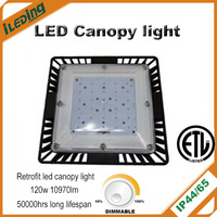 Gas station etc outdoor used 120w retrofit led canopy light