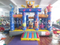 commercial Inflatable Spongebob bouncers, bouncy castles