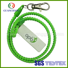 business for wholesale bright color zipper plastic neck lanyard with pouch