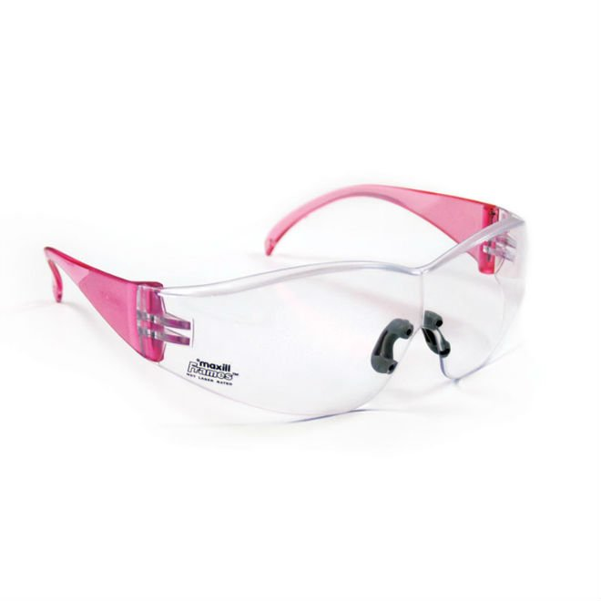 maxill Frames - Pink With Clear Lenses