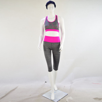 Lady's Gym fitness capri active wear spandex sports bra polyester yoga wear