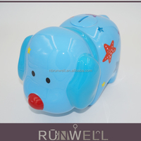 Lovely design plastic material electronic funny doggy coin bank with music