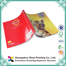 OEM custom printed softcover cheap wholesale printing decorating primary school books