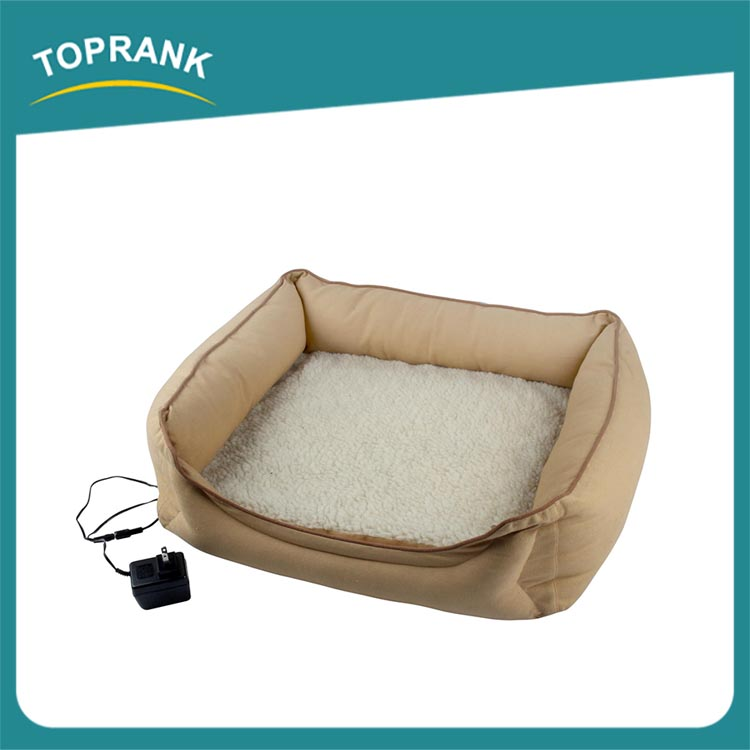 New design winter soft plush electric warmer heated pet bed