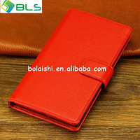 Red wallet leather case for nokia lumia 1520 screen protector