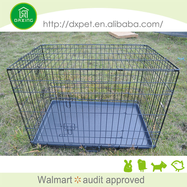 Folding metal iron stainless steel dog cage for sale cheap