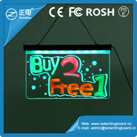 Free samples wholesale promotional erasable led light up board 90 flashing led glass writing board mobile shop sign board