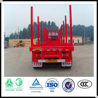 China factory supplier 3 axle log loader trailer for sale