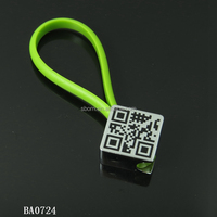 metal square keychain/ Customized personialized information QR code keychain
