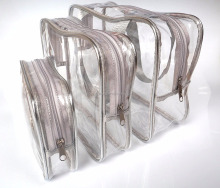 Clear Cosmetics Travel Bag Three Piece Set