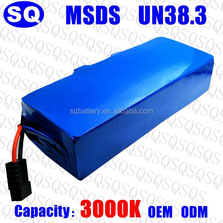 48V 10Ah waterproof lithium li-ion rechargeable external customized electric bike e-bike home appliances electric tool battery p