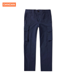 Wholesale mens cargo pants with many pockets cargo navy blue pants