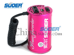 Suoer Cylindrical Car Power Inverter 150w Car Power Inverter DC to AC Car Power Inverter
