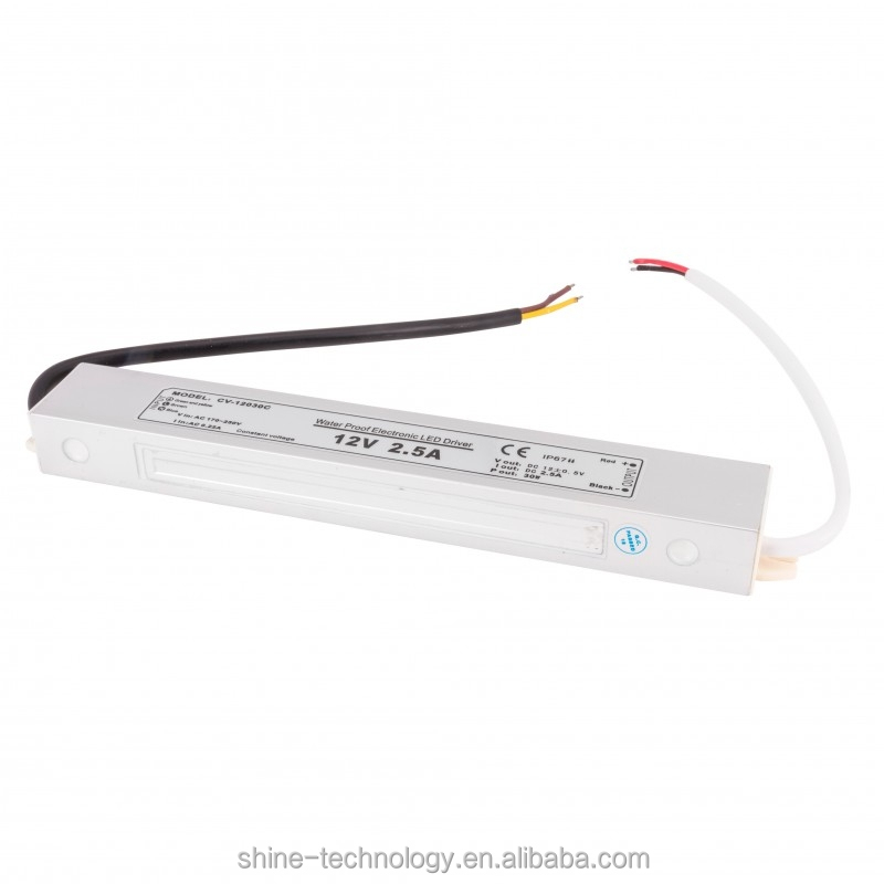 VA-12030M high quality waterproof ip67 12V 30W led driver power supply for 5050 smd module, ac 220v led powersupply