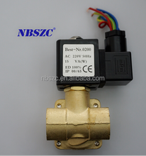 Low price high pressure diaphragm type water air gas solenoid valve 110v ac