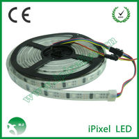 black PCB WS2801 LED digital strip 32pixel each meter 32pcs leds/m,DC5V input,IP68