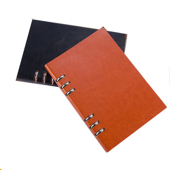 A5 Loose Leaf 3 Ring Binder Leather Journal Diary Notebook For Promotion