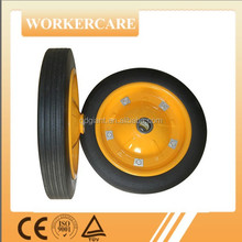 "13""x3"" solid rubber garden cart wheel"