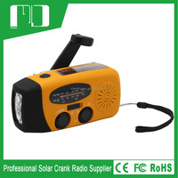 2014 new product led flashlight with emergency lamp and radio