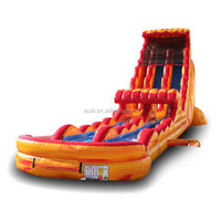 Red and yellow fire theme with icy blue slides