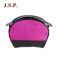 New design wash bag/cosmetic bag with glitter PVC