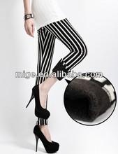 Black and white series strip sexy women thick leggings LG7065