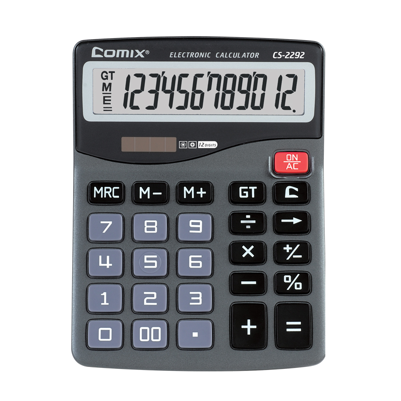 simple style large size 12 digits calculator desktop