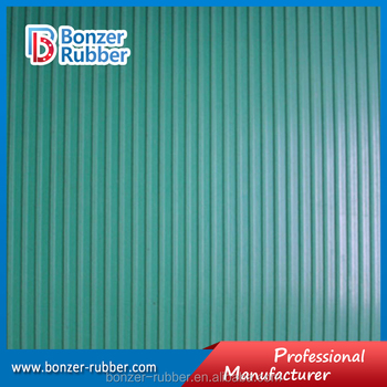 Hot selling Fine Ribbed Rubber sheet manufacture,narrow ribbed rubber sheeting