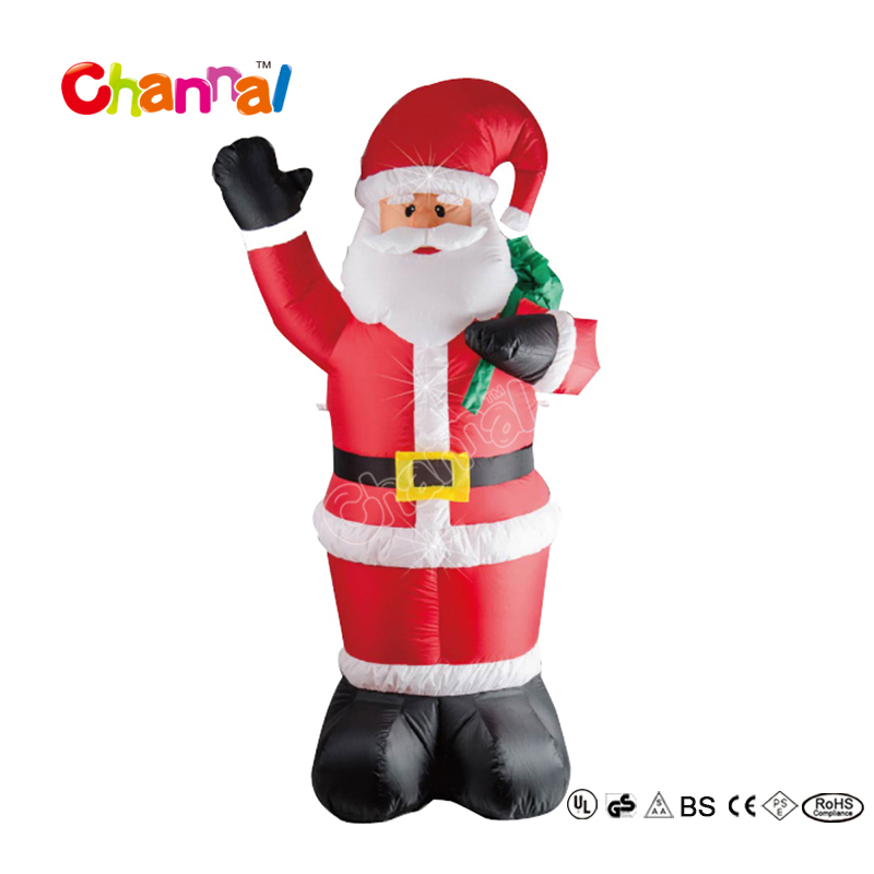 Christmas Inflatable Santa Claus With Christmas Gift, Inflatable Santa Christmas Outdoor Decor