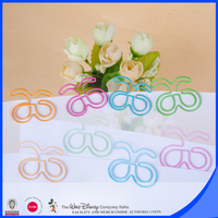 Colorful PET wire shaped paper clip metal holder clip