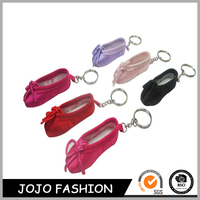 Great mini cute fabric ballet shoe souvenir keychain for girls