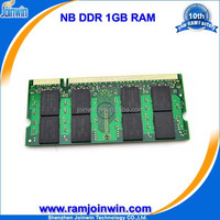 Low density laptop non ecc ddr ram memory 1g pc2700 333mhz