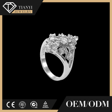 OEM supplied engagement ring jewelry, pure silver ring, wholesale costume jewellery