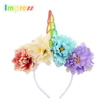 Supply for parties or festival hair accessory unicorn <strong>headband</strong> horn ear design <strong>headband</strong>