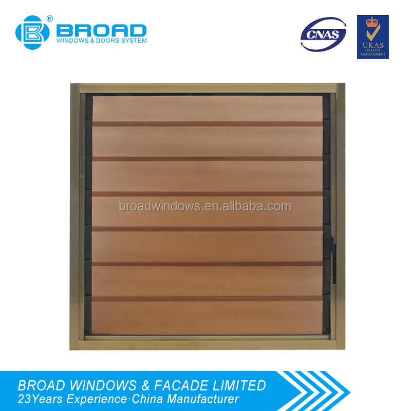Aluminum vertical adjustable single glass louver windows and doors