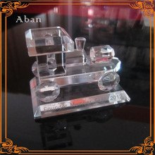 Customized crystal gift for company souvenir, crystal train model