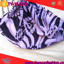nylon/polyester spandex customized printing purple mesh fabric for cloth