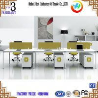 Factory Price 6 Persons Computer Desks /Office Furniture Modern Design Office Table