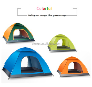 3-4 people Automatic Double Open Telescopic Awning Windproof Outdoor camping tents