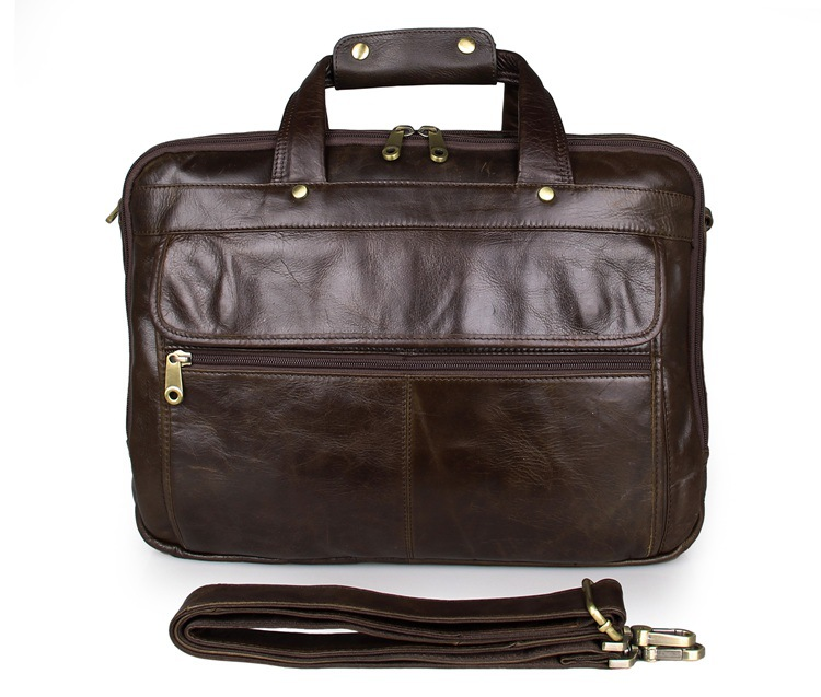 Men's Genuine Vintage Leather Messenger Shoulder Bag For Laptop Macbook