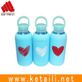 350ml High Borosilicate Glass Water Bottle With Silicone Brand Sprots Glass Drinking Bottle