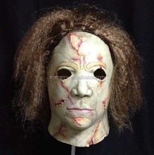 X-MERRY Halloween Michael Myers Mask With Hair Rob Zombie