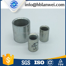 EN10241 BS Thread Carbon steel galvanized internal Thread sockets mild steel socket