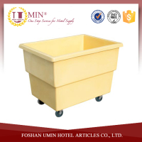 Plastic Laundry Cart with Wheels