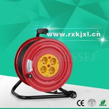 CE plastic 4 outlets metal extension lead reel / 220 metal cable reel