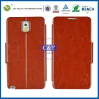 C&T Leather wallet cell phone case for galaxy note 3