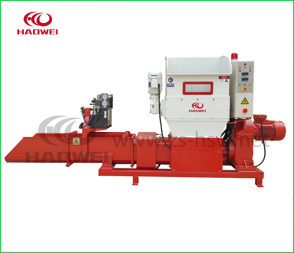 EPS foam size reduction machine for compressing into densified block