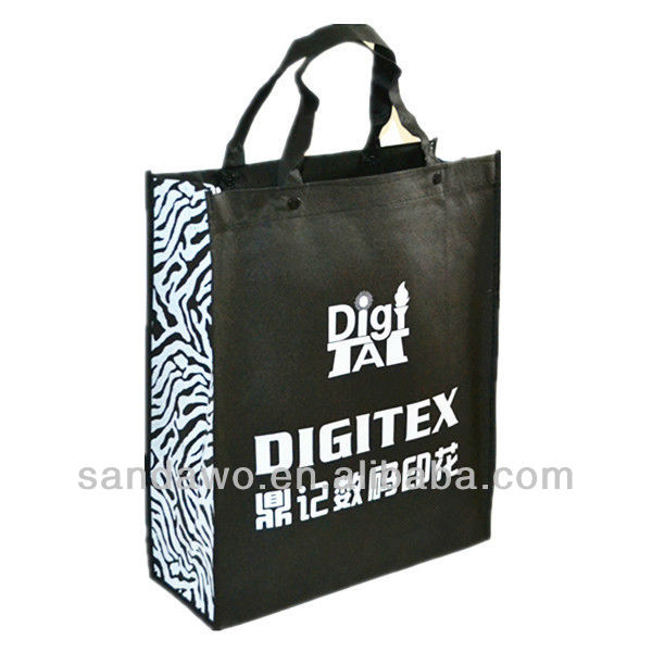 Black Non Woven Shopping Bags for Top Luxury Brands (N601031)